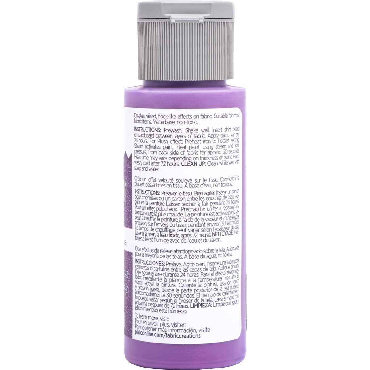 Fabric Creations™ Plush™ 3-D Fabric Paints - Grape Fizz, 2 oz.