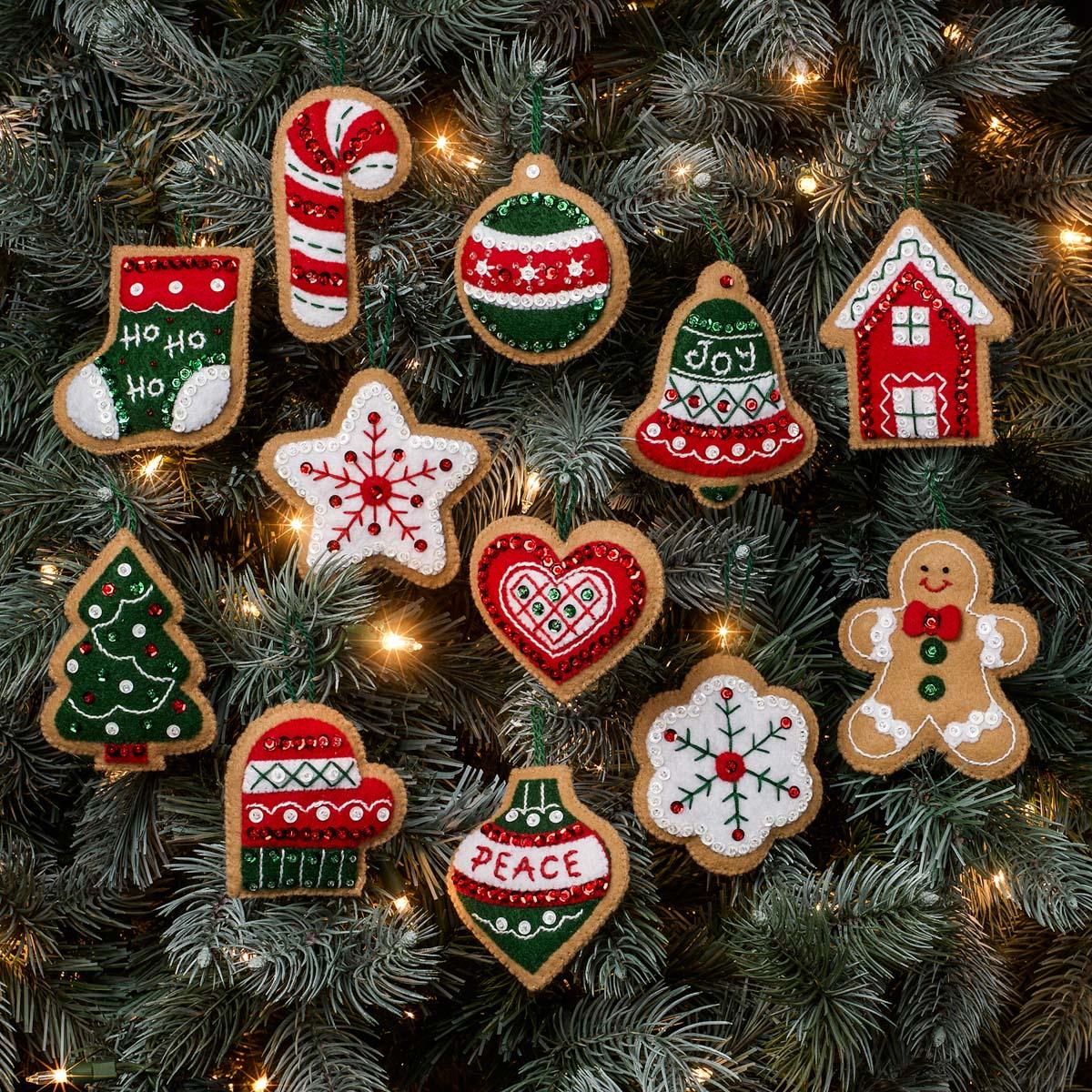 Bucilla ® Seasonal - Felt - Ornament Kits - Gingerbread Santa - 89301E