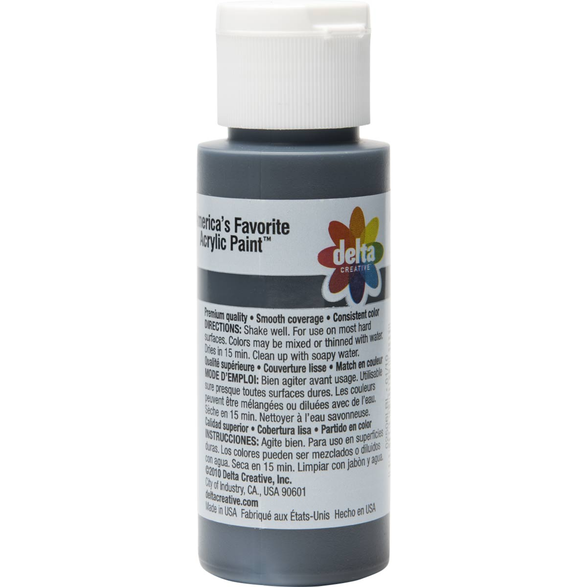 Delta Ceramcoat ® Acrylic Paint - Black, 2 oz.