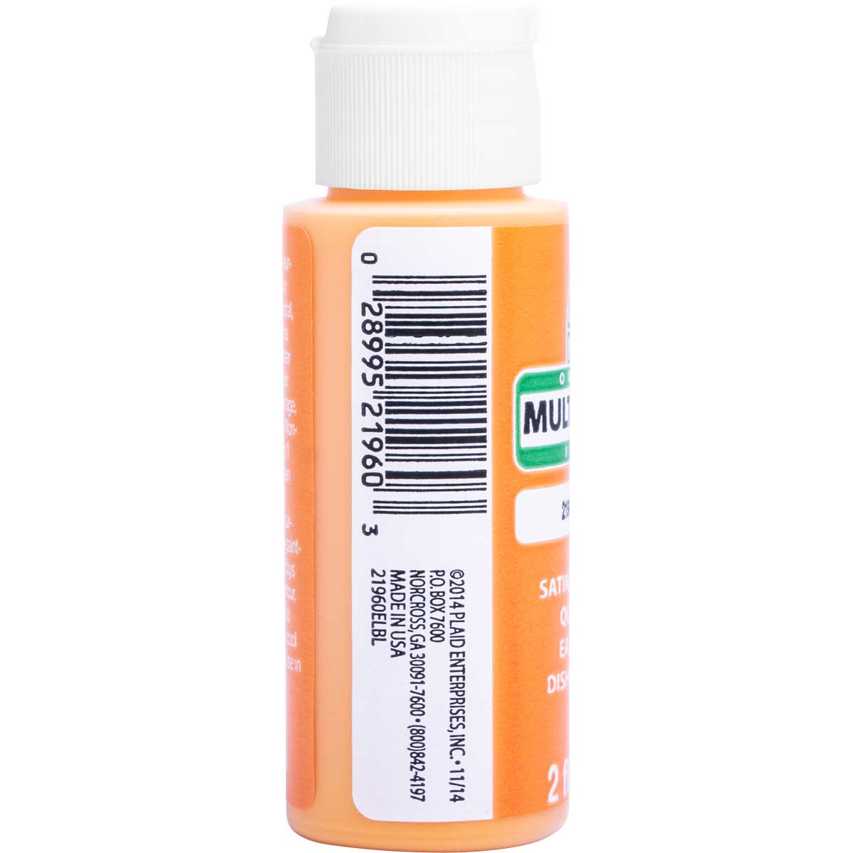 Apple Barrel ® Multi-Surface Satin Acrylic Paints - Nectarine, 2 oz. - 21960E