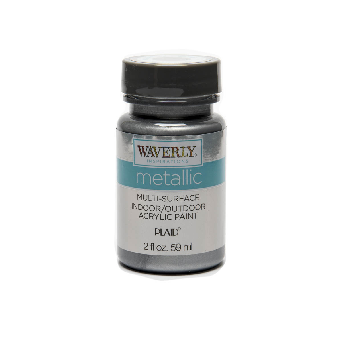 Waverly ® Inspirations Metallic Multi-Surface Acrylic Paint - Silver, 2 oz. - 60923E