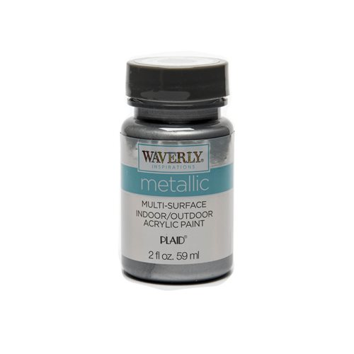 Waverly ® Inspirations Metallic Multi-Surface Acrylic Paint - Silver, 2 oz.