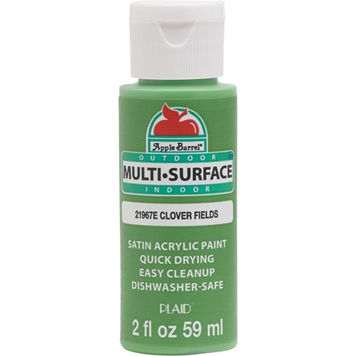 Apple Barrel ® Multi-Surface Satin Acrylic Paints - Clover Fields, 2 oz.