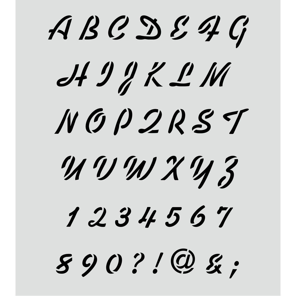 FolkArt ® Painting Stencils - Laser - Alphabet Breezy Script