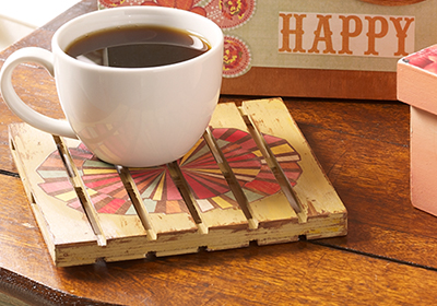 Decorated Wooden Pallet Coasters