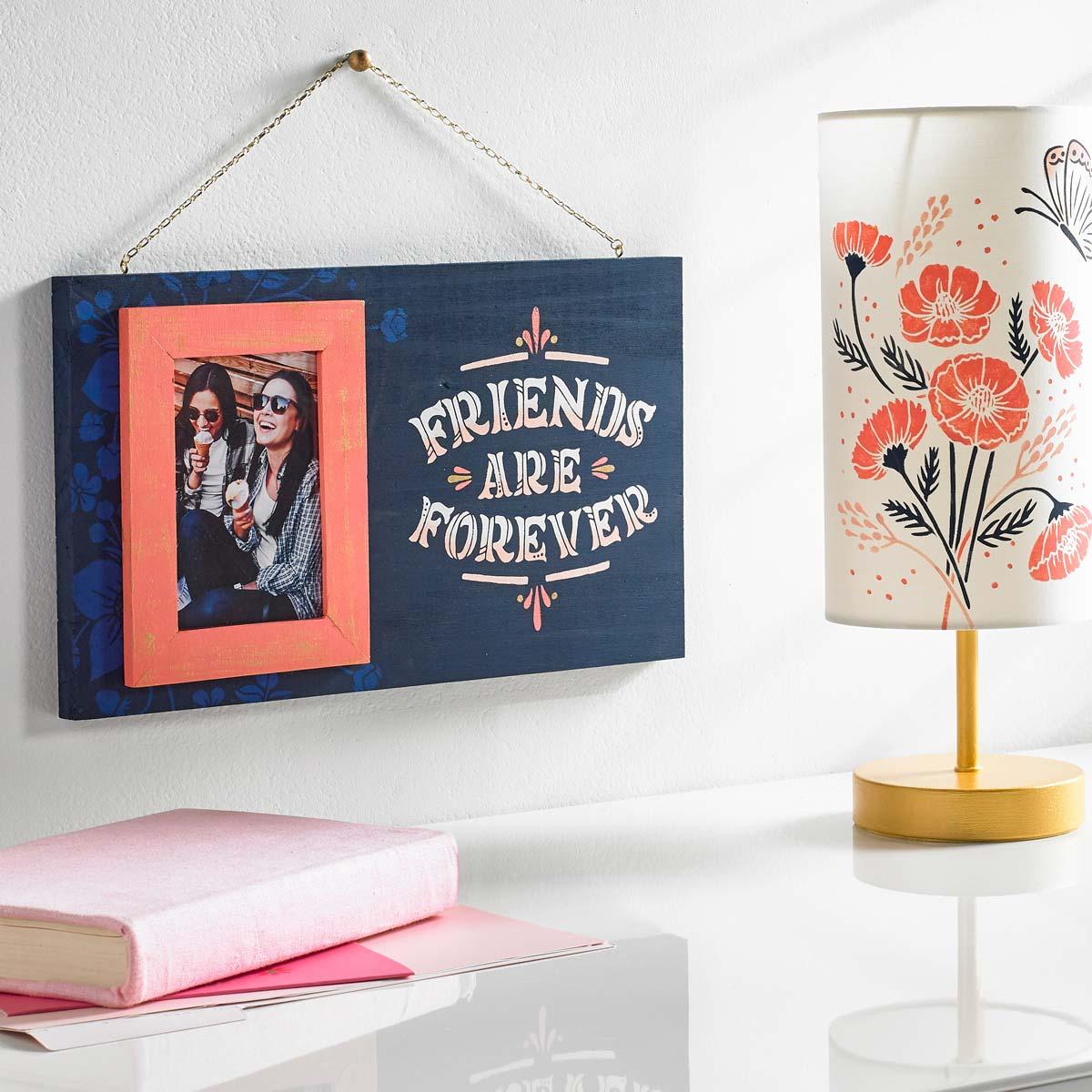 Hallmark Handcrafted Adhesive Stencils - Enchanting Design Pack, 8-1/2