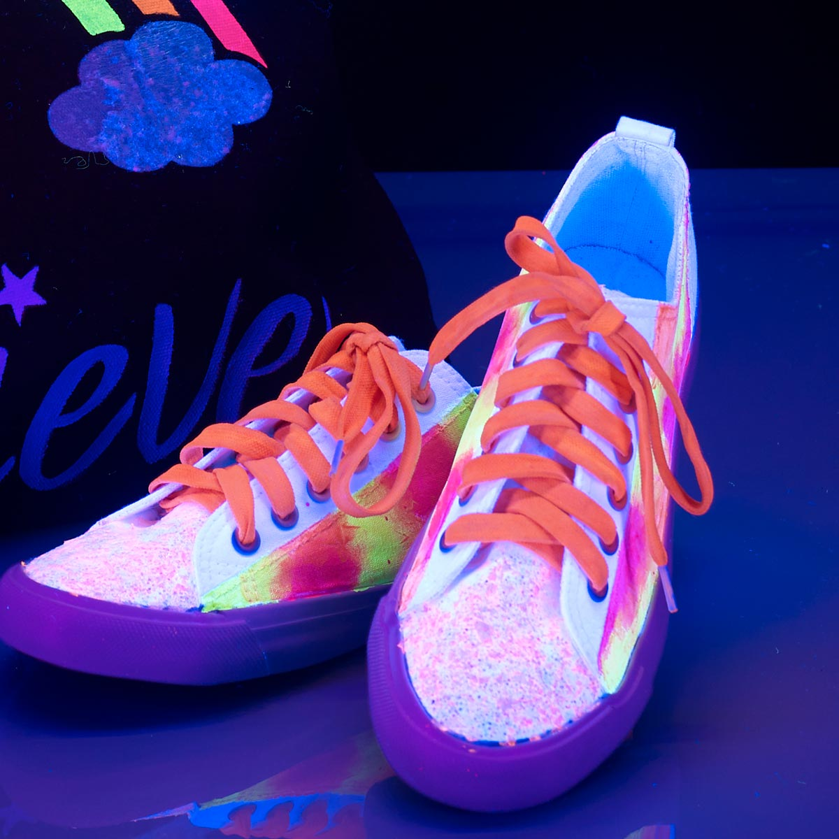 Glow-in-the-Dark Canvas Shoes