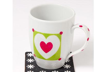 FolkArt Stencil Mugs