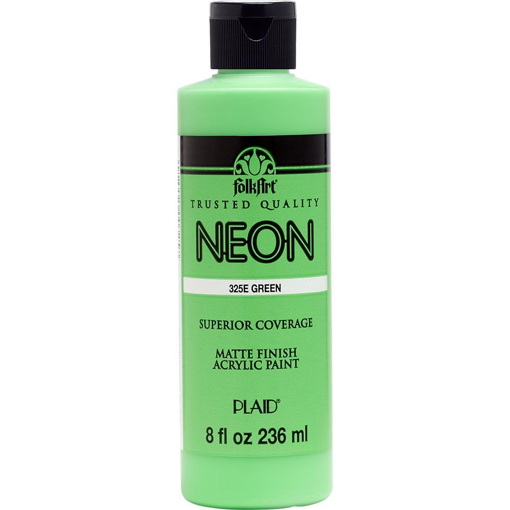 FolkArt ® Acrylic Colors - Neon Green, 8 oz.