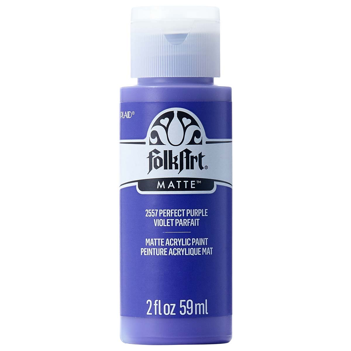 FolkArt ® Acrylic Colors - Perfect Purple, 2 oz. - 2557
