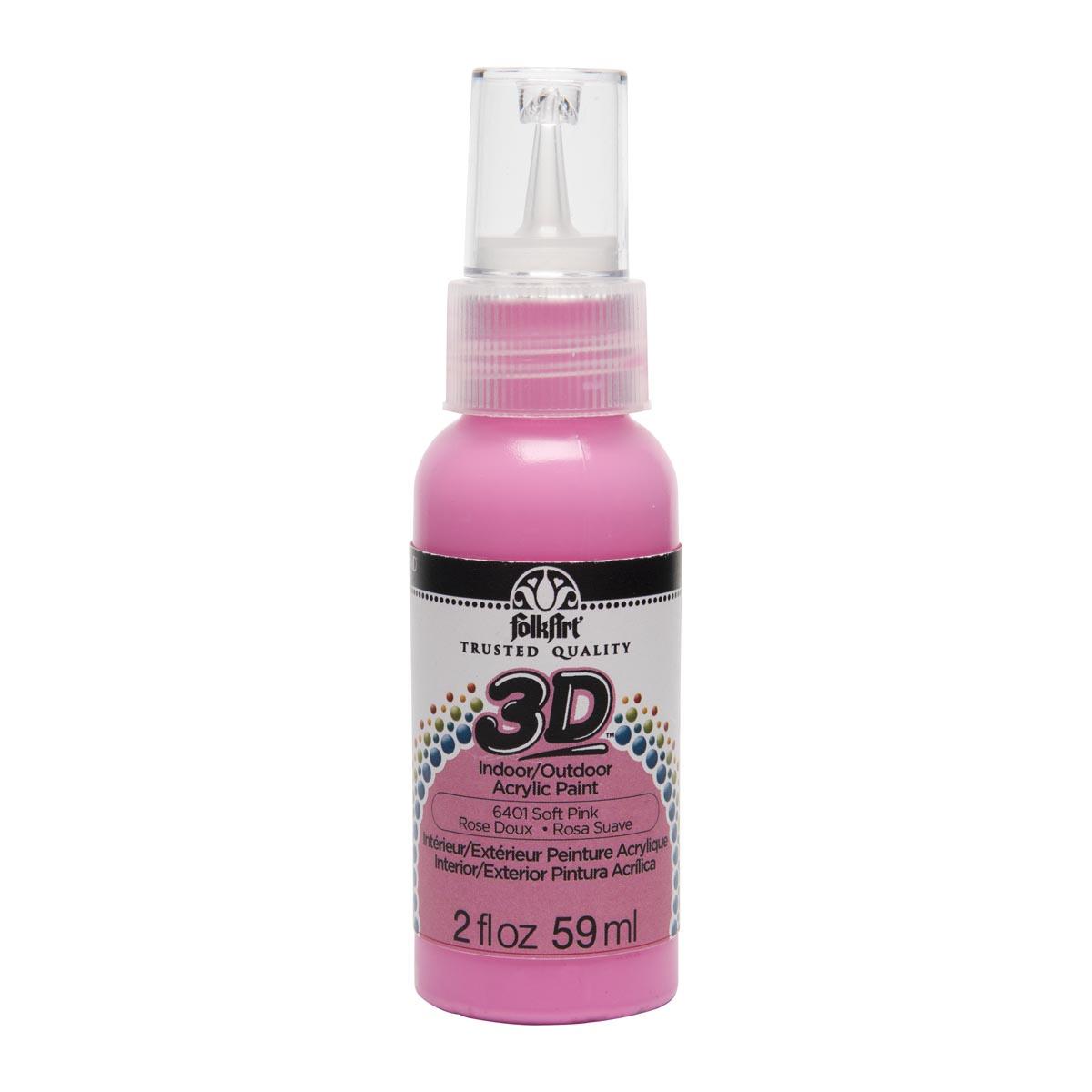 FolkArt ® 3D™ Acrylic Paint - Soft Pink, 2 oz.
