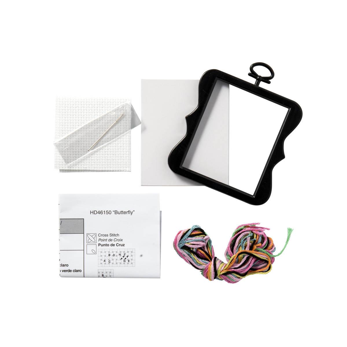 Bucilla ® Counted Cross Stitch - Beginner Stitchery - Mini - Butterfly - 46150