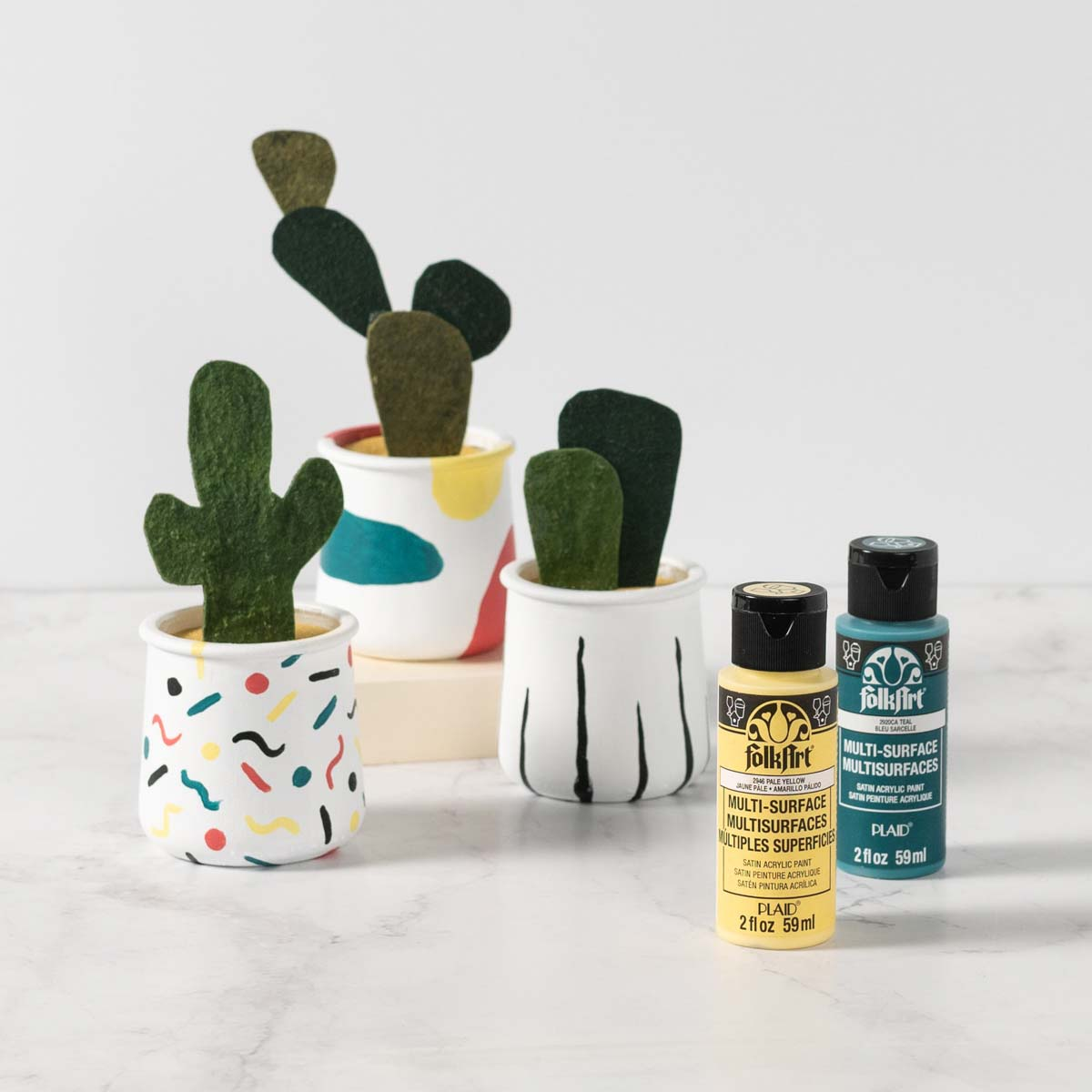 DIY Planters from Upcycled Yogurt Containers