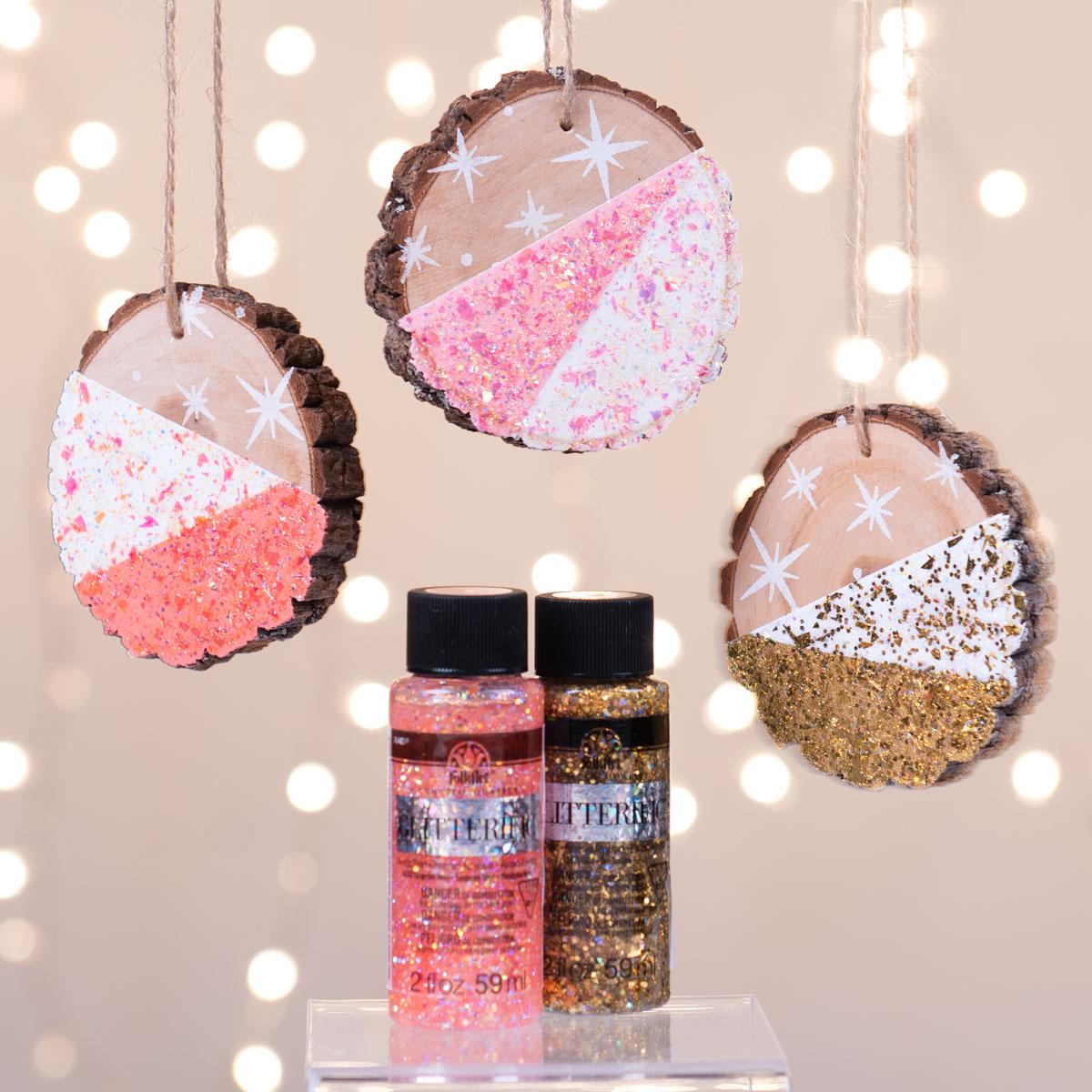DIY Dipped Glitter Ornaments