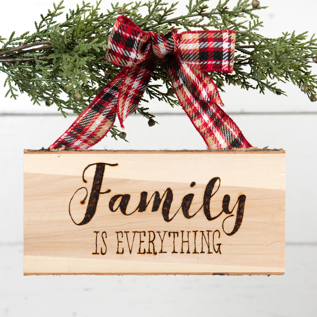 Family Wood Burned Sign Christmas DIY