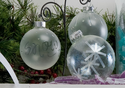 White Christmas Ornaments