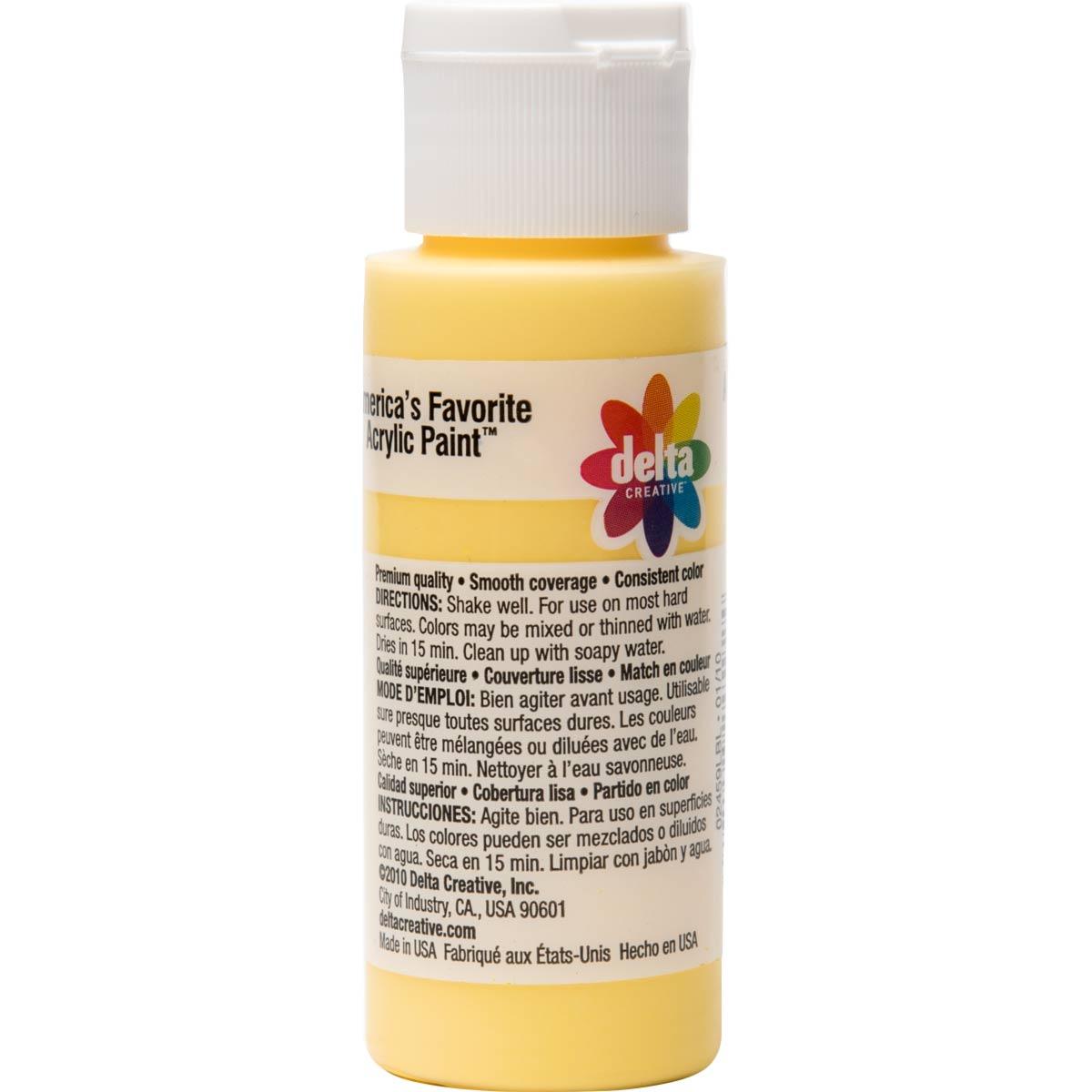 Delta Ceramcoat ® Acrylic Paint - Crocus Yellow, 2 oz.