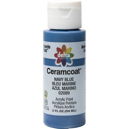 Delta Ceramcoat ® Acrylic Paint - Navy Blue, 2 oz. - 020890202W
