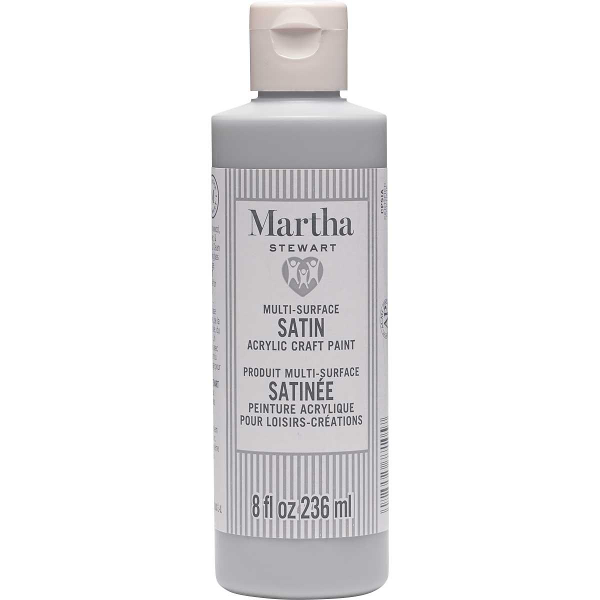 Martha Stewart ® Multi-Surface Satin Acrylic Craft Paint CPSIA - Cool Gray, 8 oz. - 77105