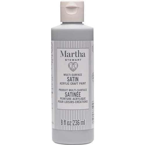 Martha Stewart ® Multi-Surface Satin Acrylic Craft Paint CPSIA - Cool Gray, 8 oz. - 77105