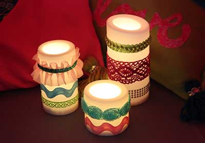 Embellished Flameless Candles