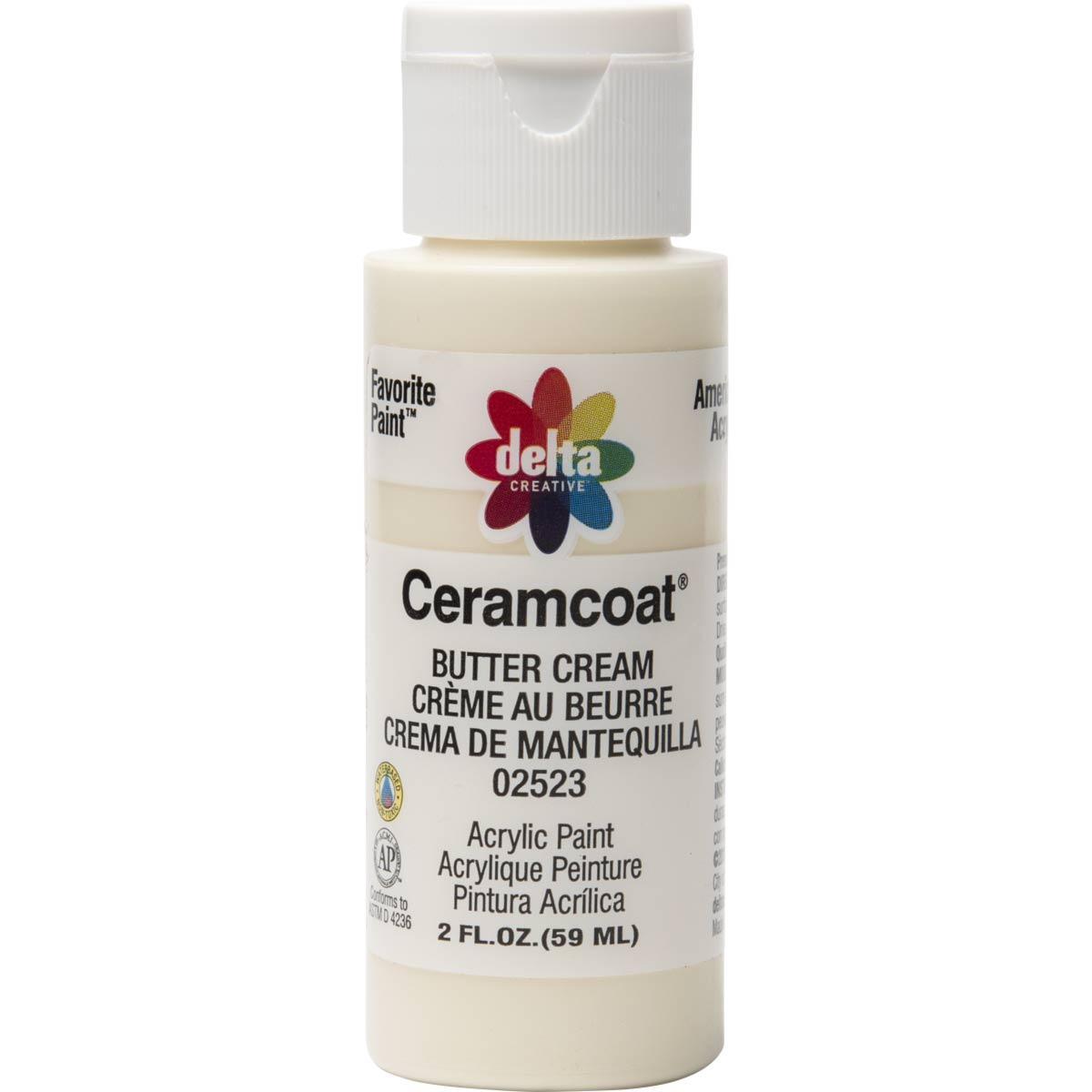 Delta Ceramcoat ® Acrylic Paint - Butter Cream, 2 oz.