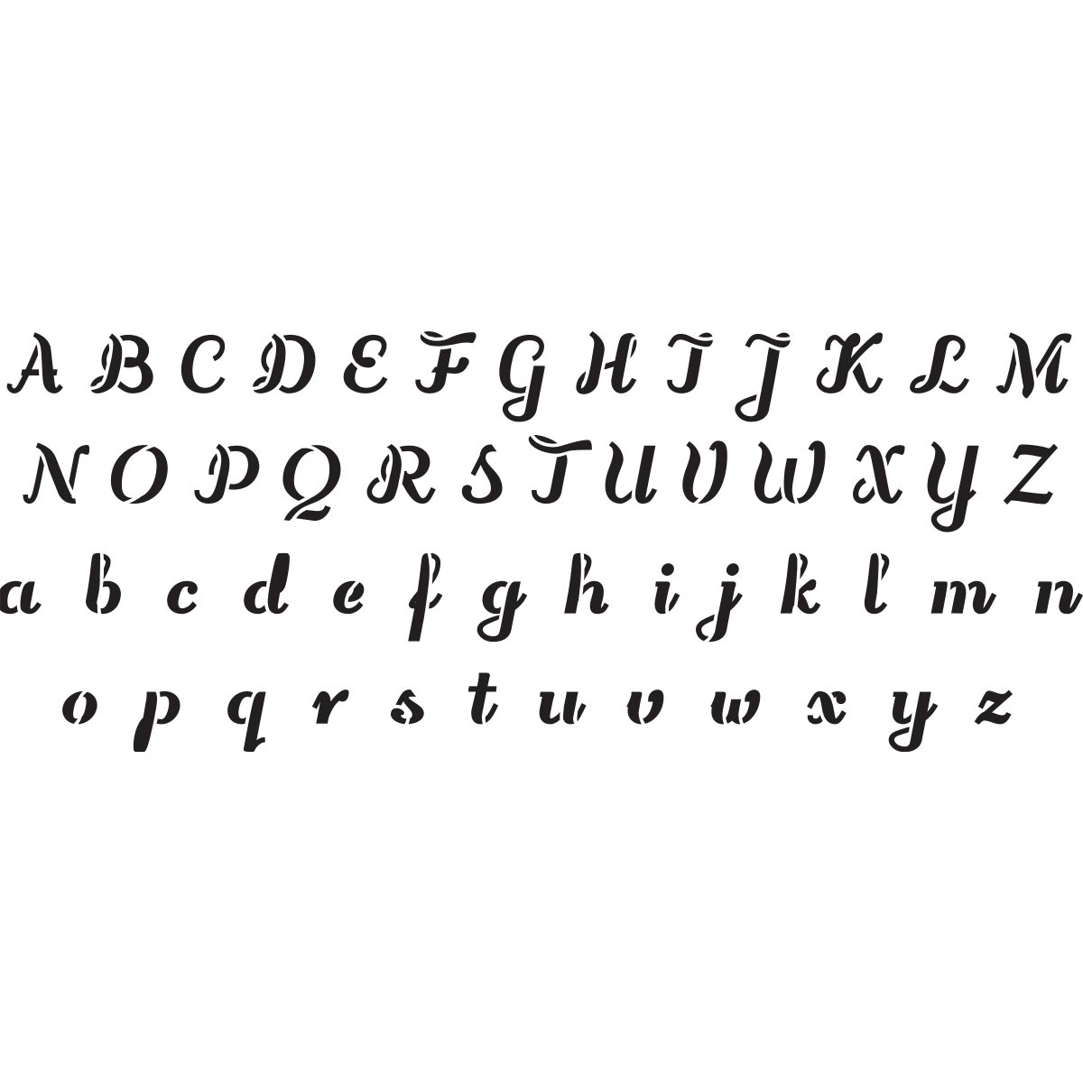 Delta Creative™ Stencil - Wedding Alphabet