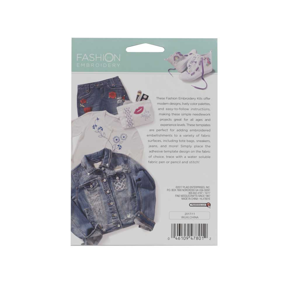 Bucilla ® Fashion Embroidery Kit - ABC's - 47801E