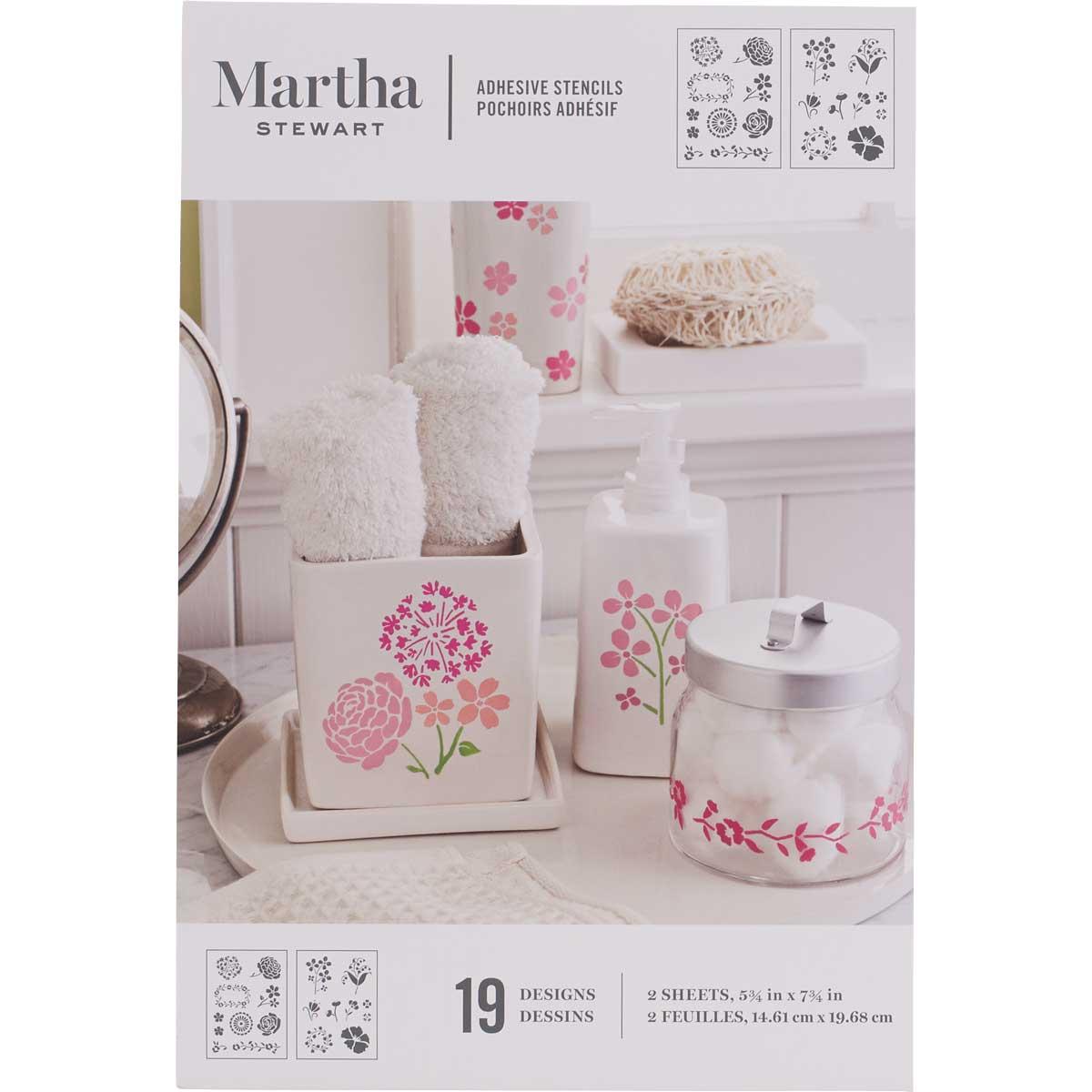 Martha Stewart® Blossoms Adhesive Stencils