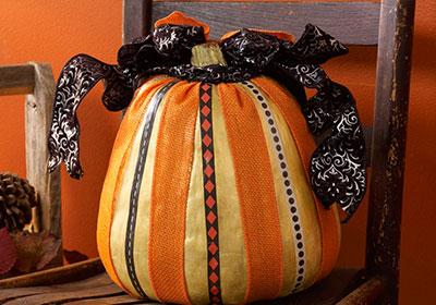 Mod Podge Faux Washi Tape Pumpkin
