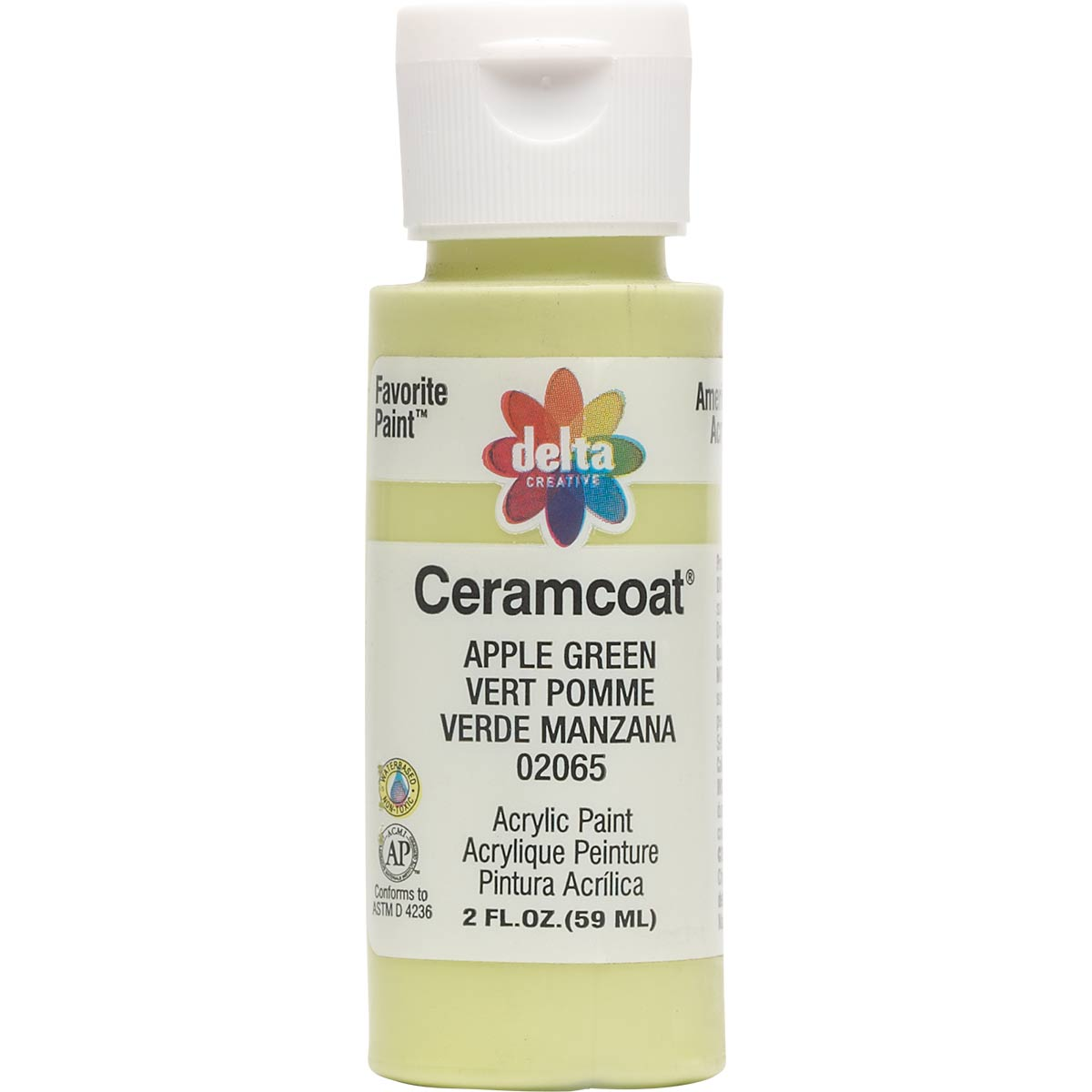 Delta Ceramcoat ® Acrylic Paint - Apple Green, 2 oz. - 020650202W