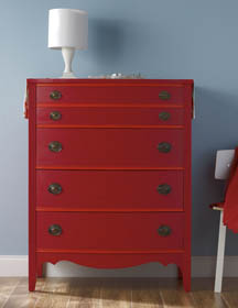 Bold Chest of Drawers Painted with Waverly Inspirations Super Premium Paint