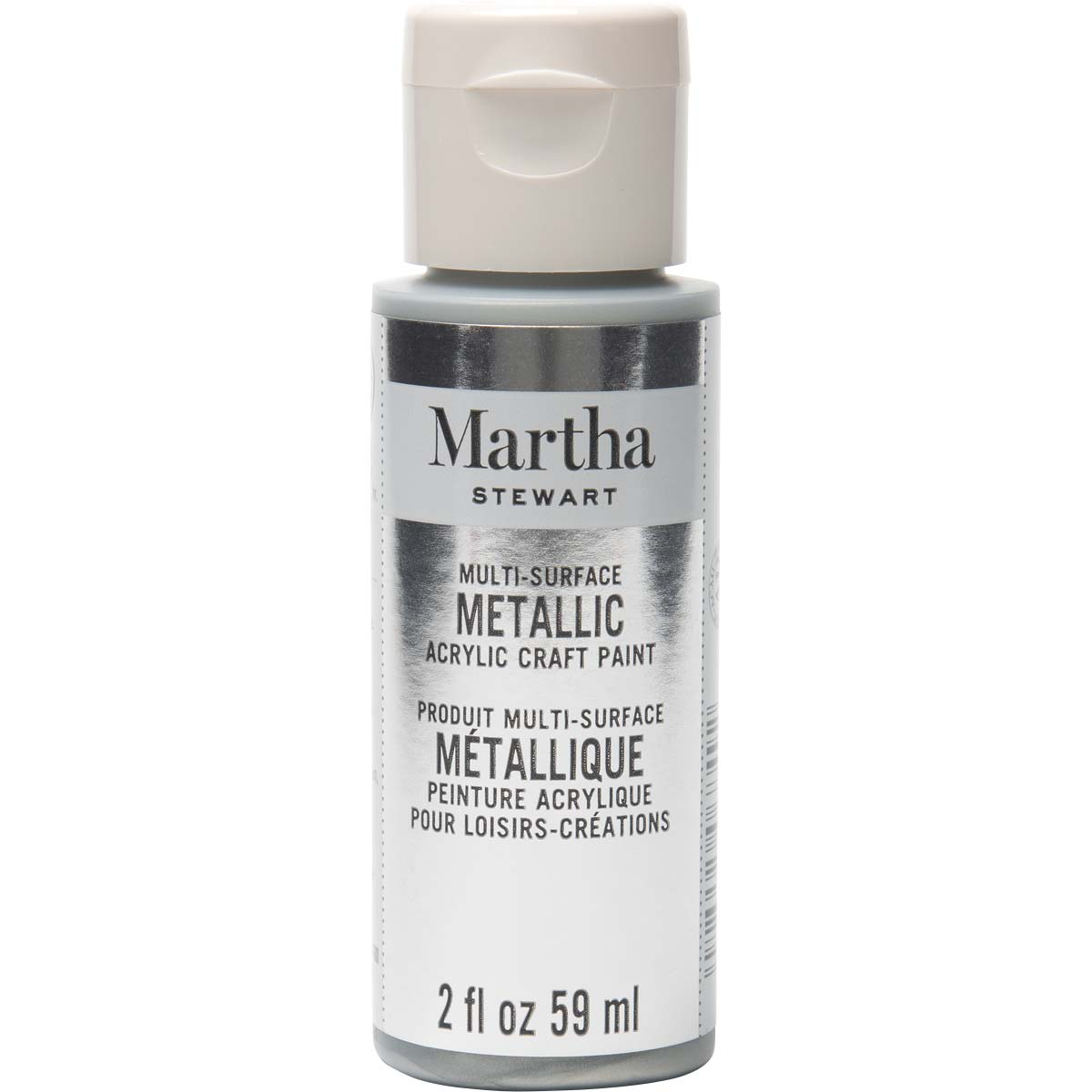 Martha Stewart ® Multi-Surface Metallic Acrylic Craft Paint - Sterling, 2 oz. - 32128CA