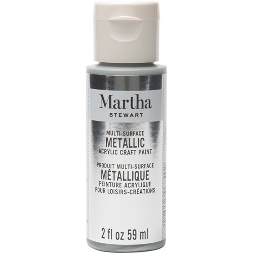 Martha Stewart ® Multi-Surface Metallic Acrylic Craft Paint - Sterling, 2 oz.