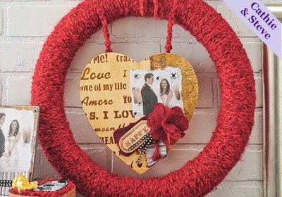 Valentine Collage Wreath