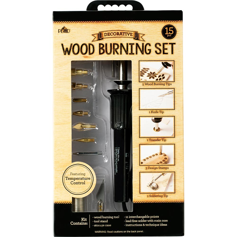 Plaid ® Wood Burning Set with Variable Temperature Control - 17391E