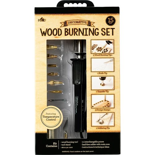 Plaid ® Wood Burning Set with Variable Temperature Control