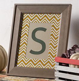 Framed Stenciled Monogram