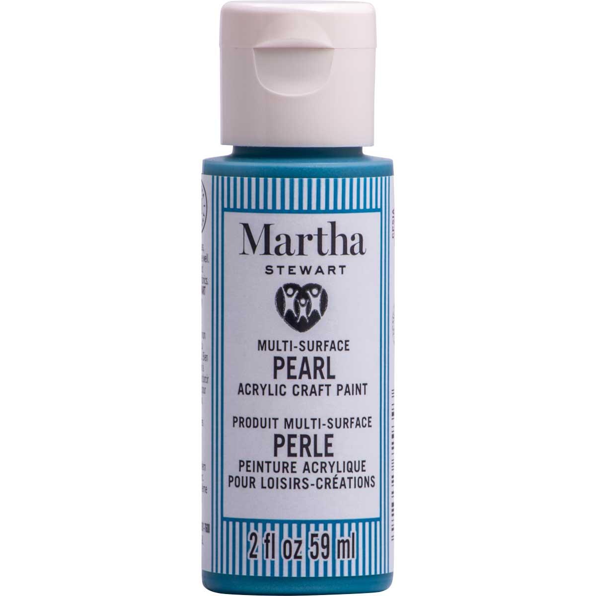 Martha Stewart® 2oz Multi-Surface Pearl Acrylic Craft Paint - Azure
