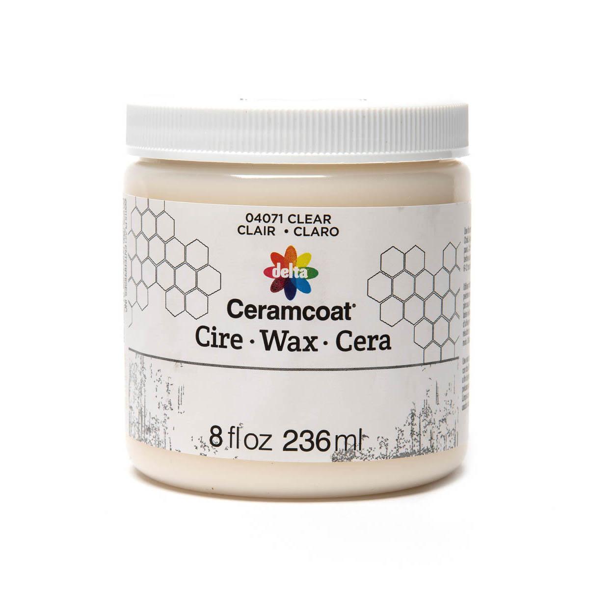 Delta Ceramcoat ® Wax - Clear, 8 oz. - 04071