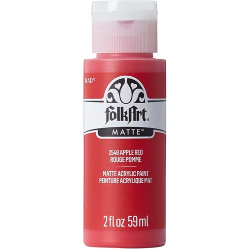 FolkArt ® Acrylic Colors - Apple Red, 2 oz.