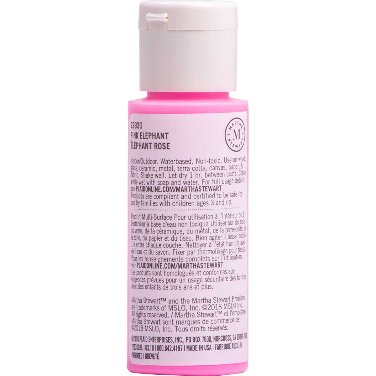Martha Stewart ® Multi-Surface Glow-in-the-Dark Acrylic Craft Paint CPSIA - Pink Elephant, 2 oz. - 7