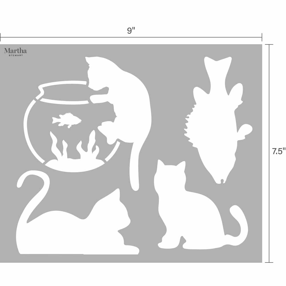 Martha Stewart ® Adhesive Paper Stencils - Pets