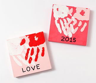 Handprint Valentine Canvas