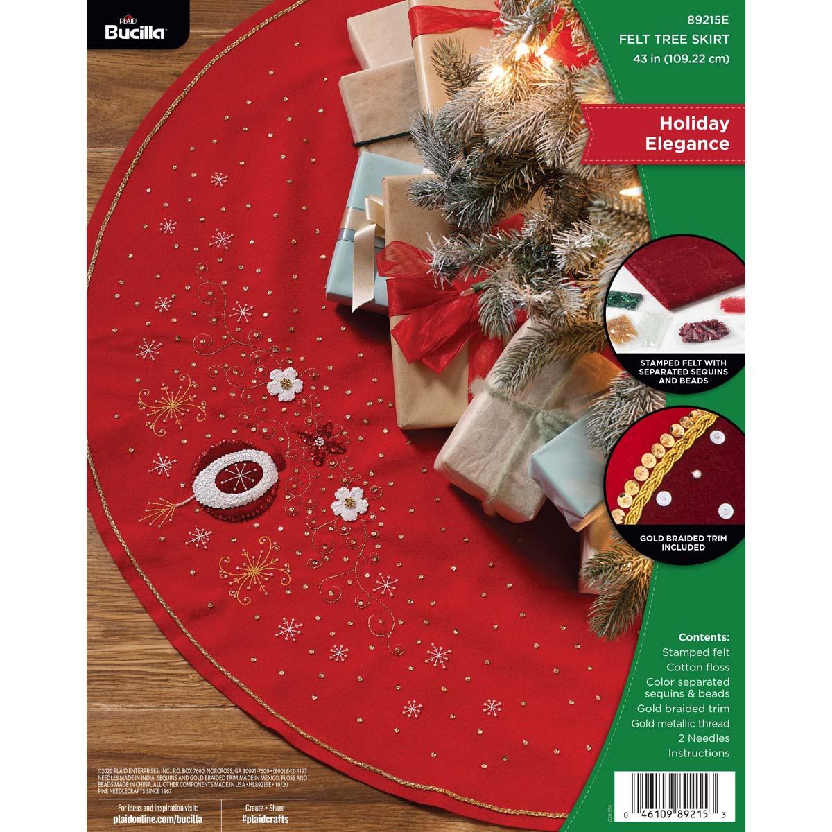 Bucilla ® Seasonal - Felt - Tree Skirt Kits - Holiday Elegance - 89215E