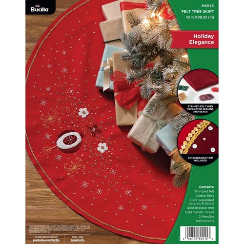 Bucilla ® Seasonal - Felt - Tree Skirt Kits - Holiday Elegance - 89215E