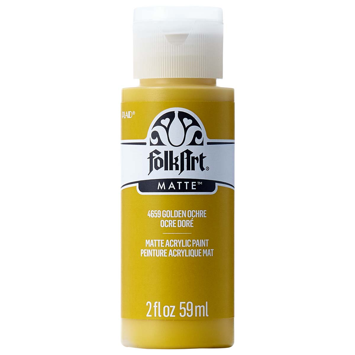 FolkArt ® Acrylic Colors - Golden Ochre, 2 oz. - 4659