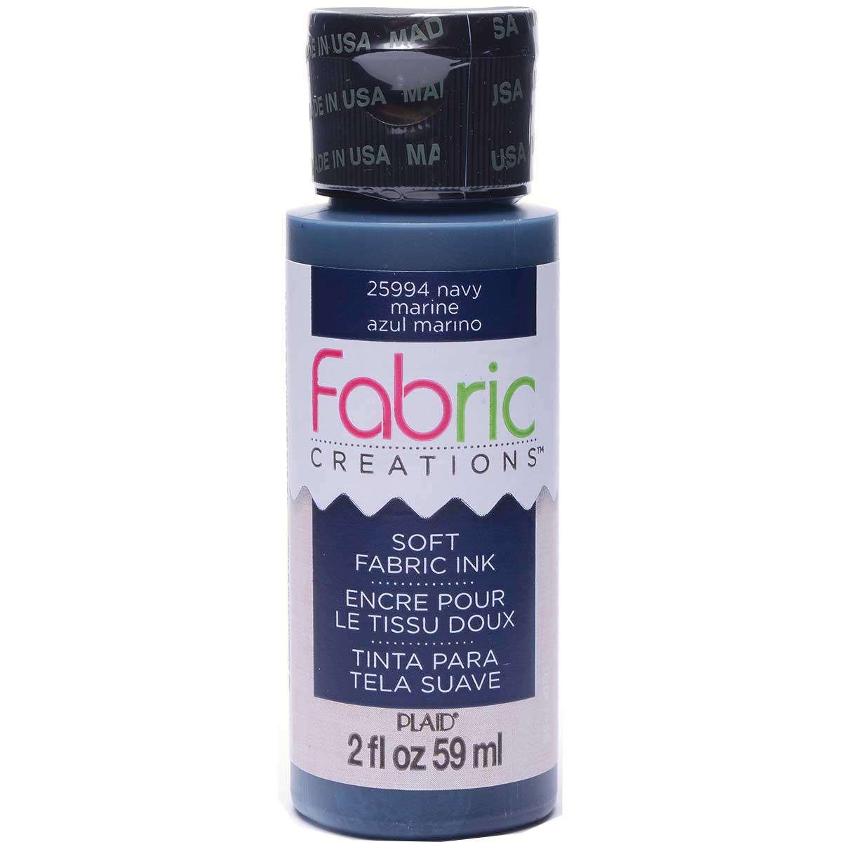 Fabric Creations™ Soft Fabric Inks - Navy, 2 oz.