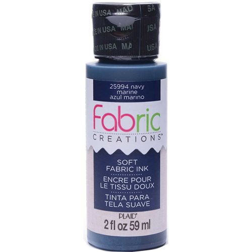 Fabric Creations™ Soft Fabric Inks - Navy, 2 oz.