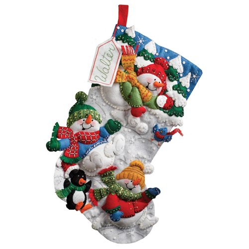 Bucilla ® Seasonal - Felt - Stocking Kits - Snow Fun
